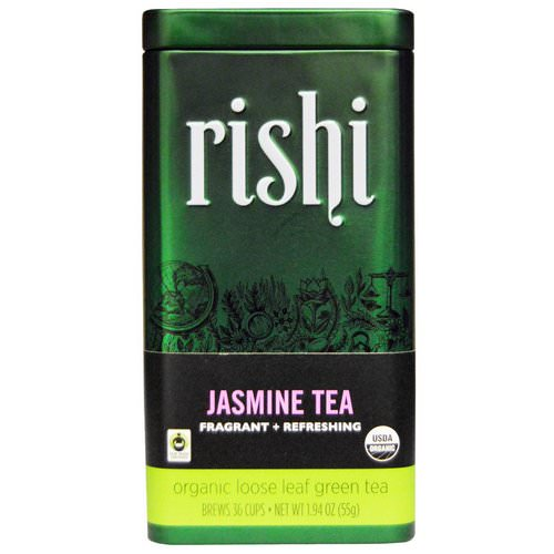 Rishi Tea, Organic Loose Leaf Green Tea, Jasmine, 1.94 oz (55 g) Review