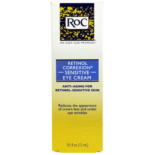 RoC, Retinol Correxion Sensitive Eye Cream, 0.5 fl oz (15 ml) Review