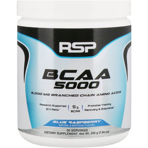 RSP Nutrition, BCAA 5000, Blue Raspberry, 5,000 mg, 7.94 oz (225 g) Review