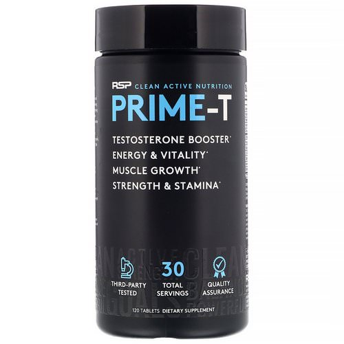 RSP Nutrition, Prime-T, Testosterone Booster, 120 Tablets Review