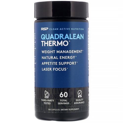 RSP Nutrition, Quadralean Thermo, 180 Capsules Review