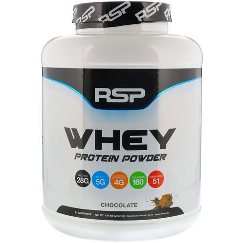 RSP Nutrition, Whey Protein Powder, Chocolate, 4.6 lbs (2.09 kg) Review