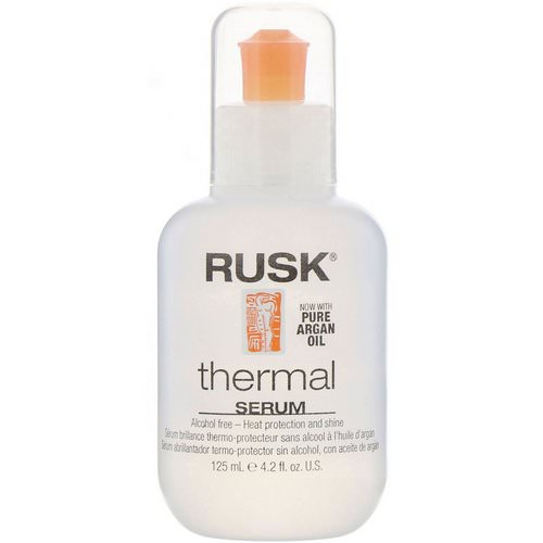 Rusk, Thermal Serum, Alcohol Free, Heat Protection And Shine, 4.2 fl oz (125 ml) Review