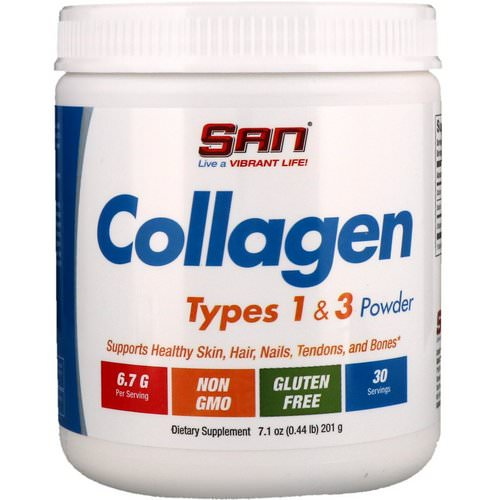 SAN Nutrition, Collagen, Types 1 & 3 Powder, 7.1 oz (201 g) Review