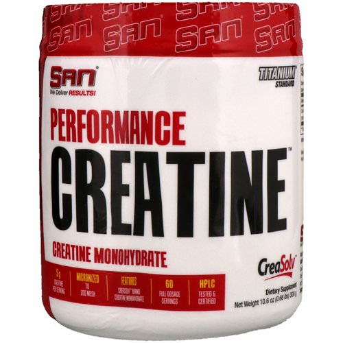 SAN Nutrition, Performance Creatine, 10.6 oz (300 g) Review