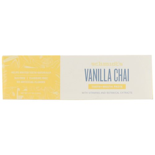 Schmidt's Naturals, Tooth + Mouth Paste, Vanilla Chai, 4.7 oz (133 g) Review