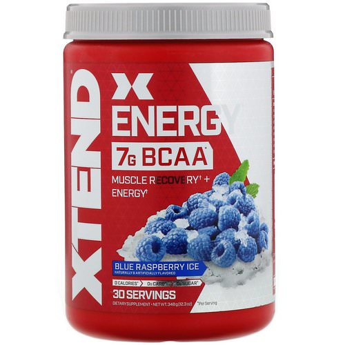 Scivation, Xtend Energy BCAA, Blue Raspberry Ice, 12.3 oz (348 g) Review