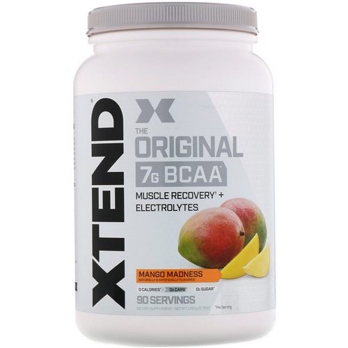 Scivation, Xtend, The Original 7G BCAA, Mango Madness, 2.78 lb (1.26 kg) Review