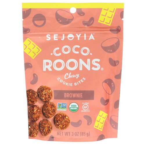 Sejoyia, Coco-Roons, Chewy Cookie Bites, Brownie, 3 oz (85 g) Review