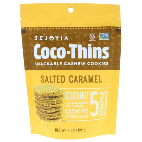Sejoyia, Coco-Thins, Snackable Cashew Cookies, Salted Caramel, 3.5 oz (99 g) Review