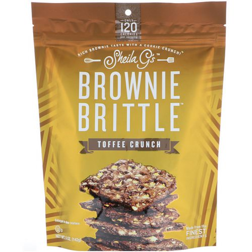 Sheila G's, Brownie Brittle, Toffee Crunch, 5 oz (142 g) Review