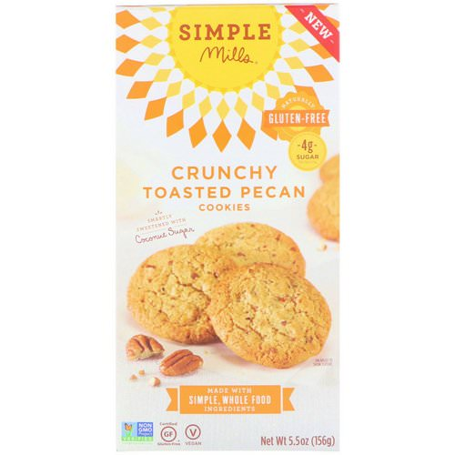 Simple Mills, Naturally Gluten-Free, Crunchy Cookies, Toasted Pecan, 5.5 oz (156 g) Review
