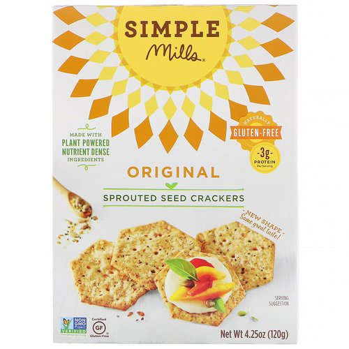 Simple Mills, Sprouted Seed Crackers, Original, 4.25 oz (120 g) Review