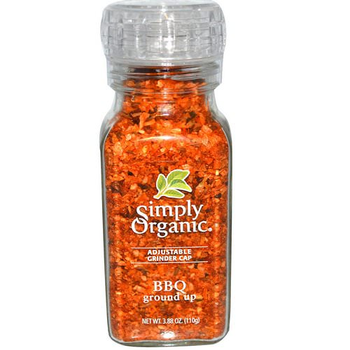 Simply Organic, Adjustable Grinder Cap, BBQ Ground Up, 3.88 oz (110 g) Review