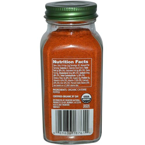 Simply Organic, Cayenne, 2.89 oz (82 g) Review