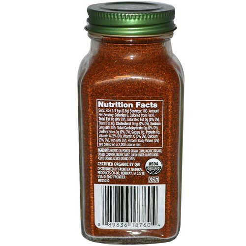 Simply Organic, Chili Powder, 2.89 oz (82 g) Review