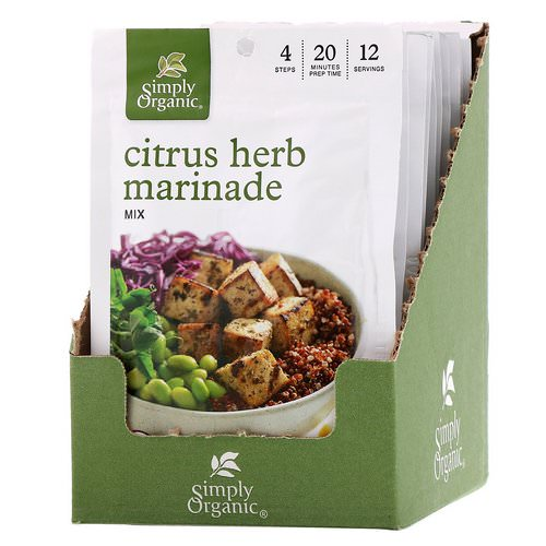 Simply Organic, Citrus Herb Marinade Mix, 12 Packets, 1.00 oz (28 g) Each Review