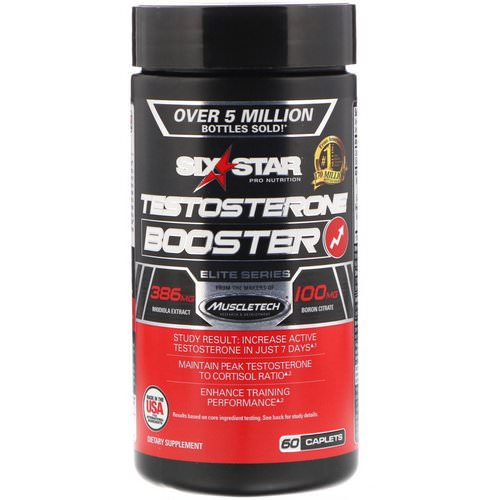 Six Star, Six Star Pro Nutrition, Testosterone Booster, Elite Series, 60 Caplets Review