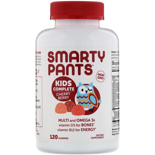 SmartyPants, Kids Complete Multivitamin, Cherry Berry, 120 Gummies Review