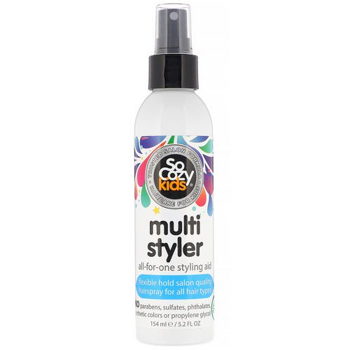SoCozy, Kids, Multi Styler, All-for-One Styling Aid, All Hair Types, 5.2 fl oz (154 ml) Review
