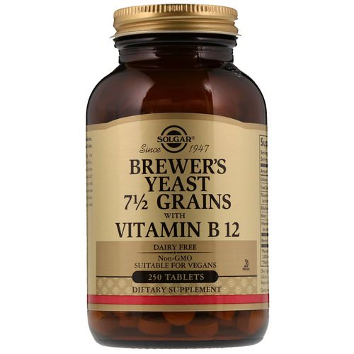 Solgar, Brewer's Yeast, 7 1/2 Grains, with Vitamin B12, 250 Tablets Review