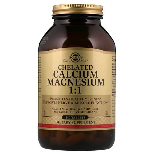 Solgar, Chelated Calcium Magnesium 1:1, 240 Tablets Review