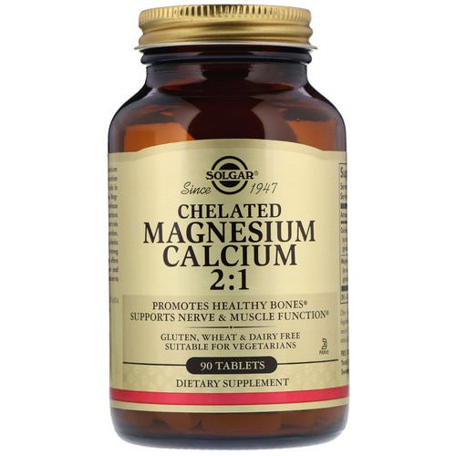 Solgar, Chelated Magnesium Calcium 2:1, 90 Tablets Review