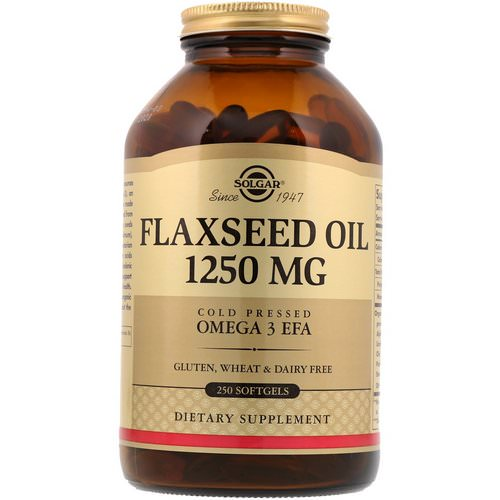 Solgar, Flaxseed Oil, 1,250 mg, 250 Softgels Review