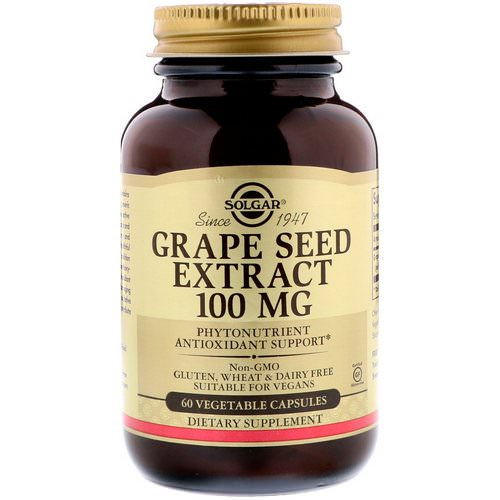 Solgar, Grape Seed Extract, 100 mg, 60 Vegetable Capsules Review