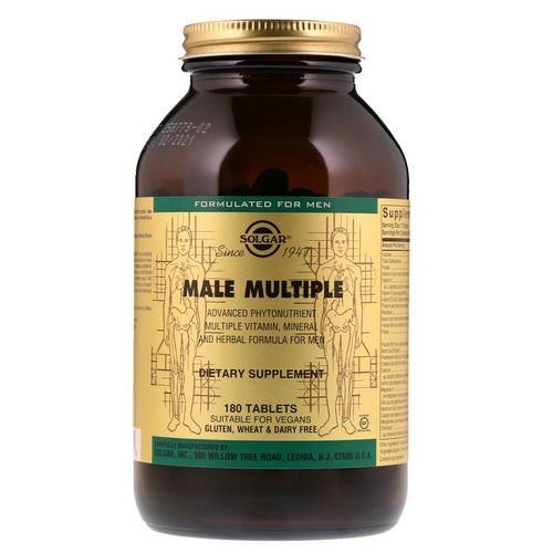 Solgar, Male Multiple, 180 Tablets Review