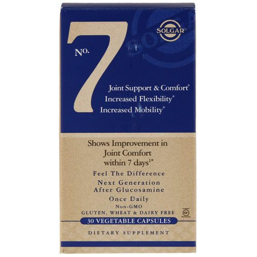Solgar, No. 7, Joint Support & Comfort, 30 Vegetable Capsules Review