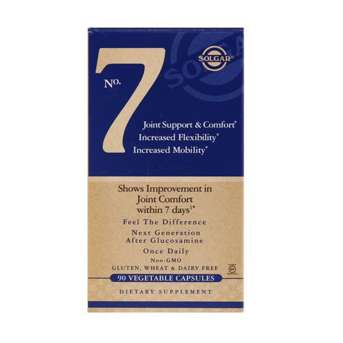 Solgar, No. 7, Joint Support & Comfort, 90 Vegetable Capsules Review