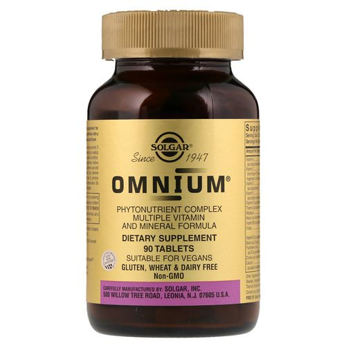 Solgar, Omnium, Phytonutrient Complex, Multiple Vitamin and Mineral Formula, 90 Tablets Review