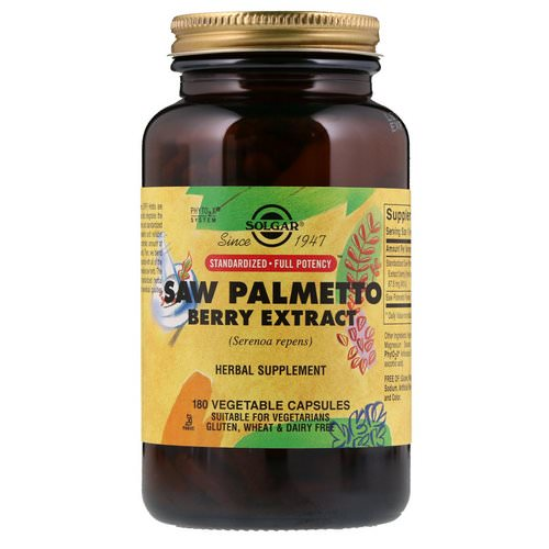 Solgar, Saw Palmetto Berry Extract, 180 Vegetable Capsules Review