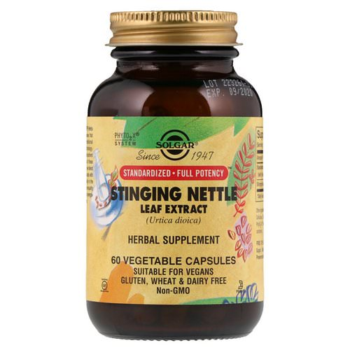 Solgar, Stinging Nettle Leaf Extract, 60 Vegetable Capsules Review