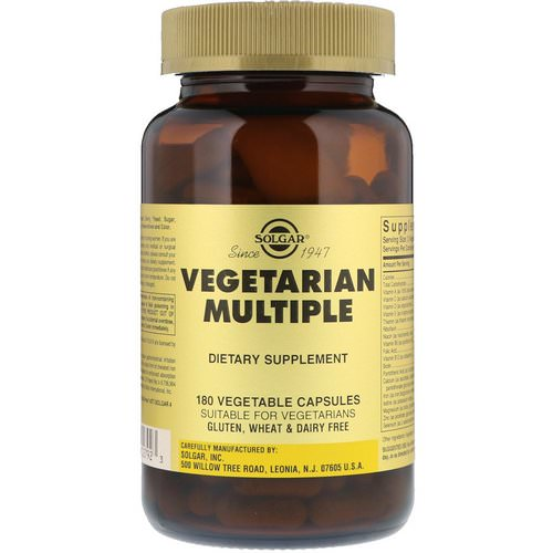 Solgar, Vegetarian Multiple, 180 Vegetable Capsules Review