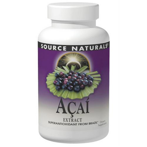 Source Naturals, Acai Extract, 500 mg, 120 Capsules Review