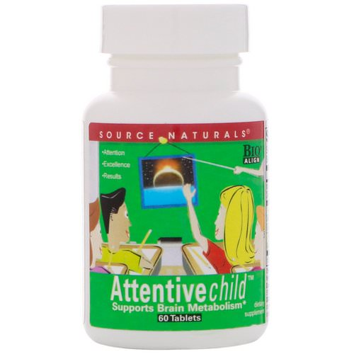 Source Naturals, Attentive Child, 60 Tablets Review