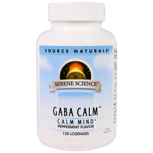 Source Naturals, GABA Calm, Peppermint Flavor, 120 Lozenges Review
