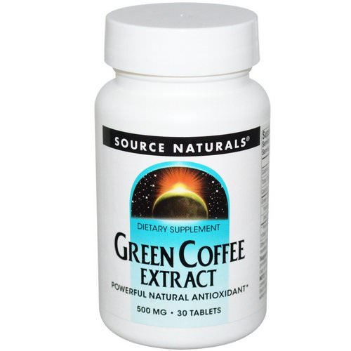 Source Naturals, Green Coffee Extract, 500 mg, 30 Tablets Review