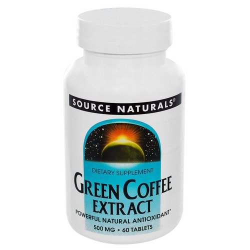 Source Naturals, Green Coffee Extract, 500 mg, 60 Tablets Review
