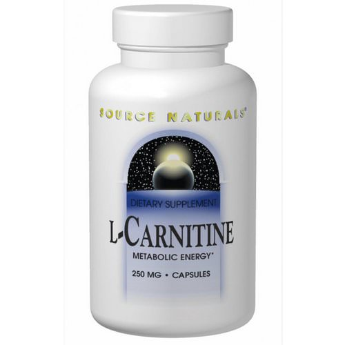 Source Naturals, L-Carnitine, 250 mg, 120 Capsules Review