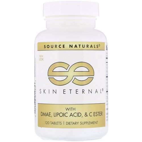 Source Naturals, Skin Eternal with DMAE, Lipoic Acid, and C Ester, 120 Tablets Review