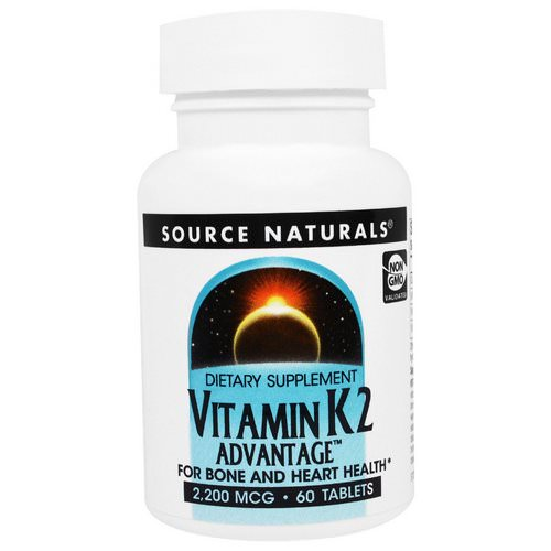 Source Naturals, Vitamin K2 Advantage, 2,200 mcg, 60 Tablets Review