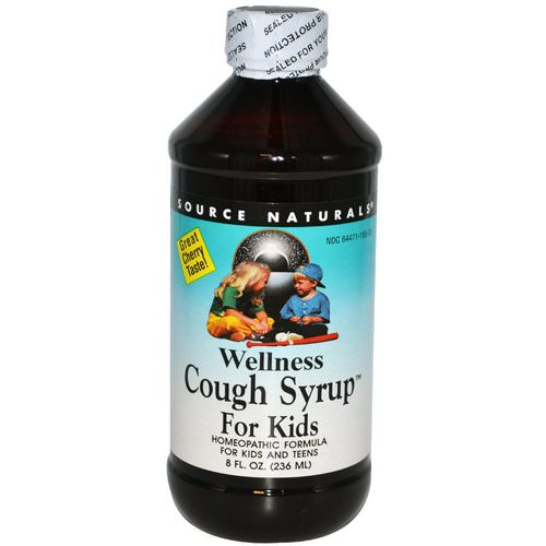Source Naturals, Wellness Cough Syrup For Kids, Great Cherry Taste, 8 fl oz (236 ml) Review