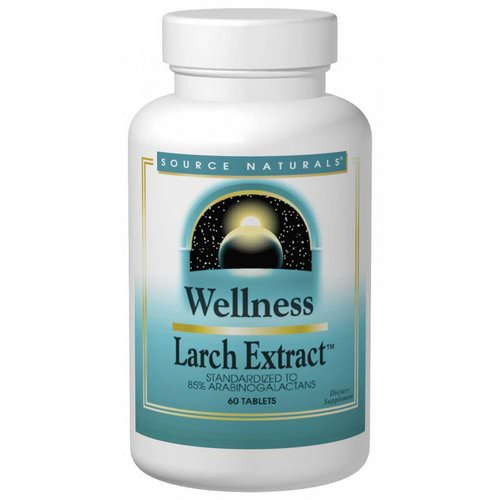 Source Naturals, Wellness, Larch Extract, 60 Tablets Review