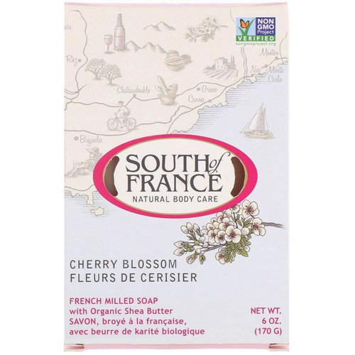 South of France, French Milled Bar Soap with Organic Shea Butter, Cherry Blossom, 6 oz (170 g) Review