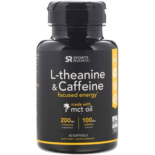 Sports Research, L-Theanine & Caffeine with MCT Oil, 60 Softgels Review