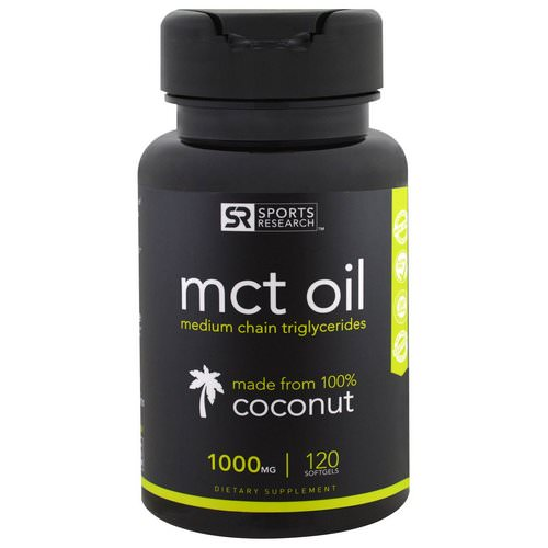Sports Research, MCT Oil, 1000 mg, 120 Softgels Review