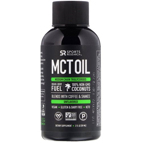 Sports Research, MCT Oil, Unflavored, 2 fl oz (59 ml) Review